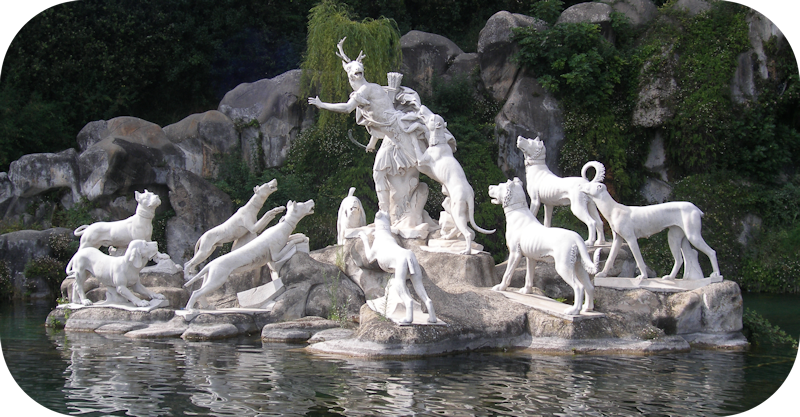 Actaeon Sculpture in Caserta Italy